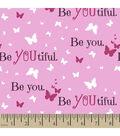 Snuggle Flannel Fabric -Beyoutiful Pink