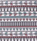 Blizzard Fleece Fabric-Mint & Coral Geometrics