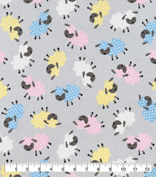 Snuggle Flannel Fabric-Baby Sheep