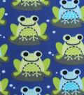 Blizzard Fleece Fabric 59\u0022-Lilly Pad Frogs