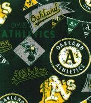 Oakland Athletics Fleece Fabric-Vintage, , hi-res