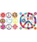 Wall Pops Tie-Dye Peace Appliques, 37 Piece Set