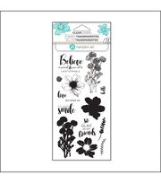 Hampton Art Layering Clear Stamp-Flower Believe, , hi-res