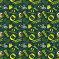 University of Oregon Ducks Cotton Fabric-Tone on Tone