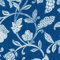Waverly Upholstery Décor Fabric 9\u0022x9\u0022 Swatch-Stencil Vine Ocean