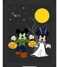 Disney Mickey & Minnie Halloween No Sew Fleece Throw Fabric