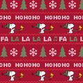 Snoopy & Woodstock Fleece Fabric-Fal La La