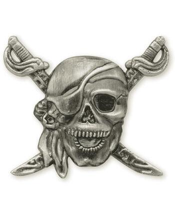 """Concho Antique Silver 1.25"""" Screwback-Pirate"""