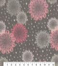 Anti-Pill Fleece Fabric-Margera Blush Burst Floral
