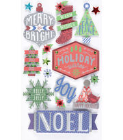 Jolee's Boutique Stickers-Holiday Words, , hi-res