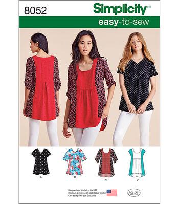 Simplicity Misses' Easy-To-Sew Tops-Xxs-Xs-S-M-L-Xl-Xxl