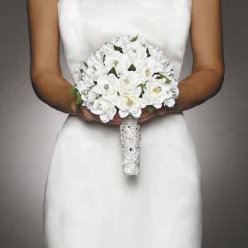 David Tutera Applique Accent Bouquet Wrap