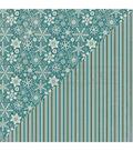 Solitude Double-Sided Cardstock 12\u0022X12\u0022-#4 Snowflakes