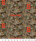 Syracuse Collegiate Realtree Cotton Fabric 42\u0022-Camo & Logo