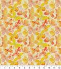 Keepsake Calico Cotton Fabric-Butterflies Glitter Orange