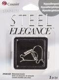 2 Piece Rhinestone Earwire Stainless Steel