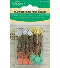 Clover Flower Head Pins-100/Pkg