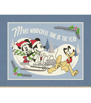 """No Sew Fleece Throw 48""""-Minnie Mouse Most Wonderful Time of the Year, , hi-res"""