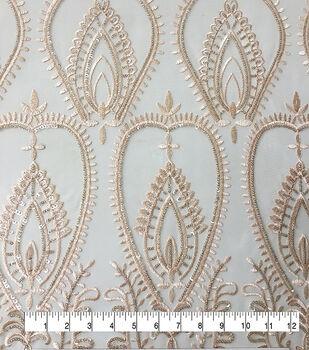 Casa Embellish Dahlia Fabric-Nude Embellished Sequin Mesh