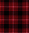 Snuggle Flannel Fabric -Hadley Plaid Red