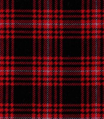 Snuggle Flannel Fabric -Hadley Plaid Red