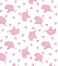 Nursery Flannel Fabric -Elephant Confetti