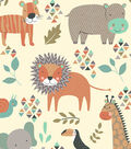 Snuggle Flannel Fabric -Patterned Zoo Friends