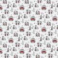 Disney Mickey & Minnie Mouse Cotton Fabric -Vintage Romance