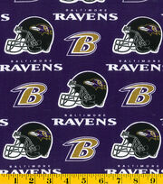 Baltimore Ravens Cotton Fabric -Purple, , hi-res