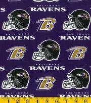 Baltimore Ravens Cotton Fabric -Purple, , hi-res