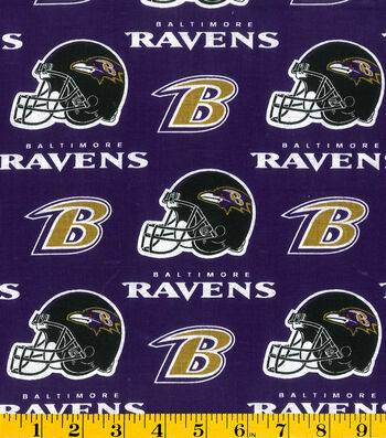 "Baltimore Ravens Cotton Fabric 58""-Purple"