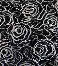 All That Glitters Jacquard Fabric 58\u0022-Reversable Rose Silver Metallic