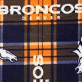 Denver Broncos Fleece Fabric -Plaid