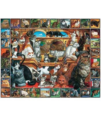 White Mountain Puzzles Jigsaw Puzzle The World Of Cats