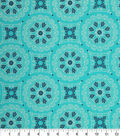 Keepsake Calico Cotton Fabric -Turquoise Medallion Geo