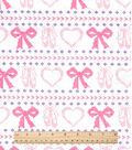 Snuggle Flannel Fabric 42\u0022-Ballerina Fair Isle