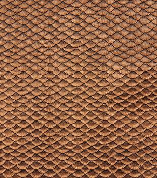 "Cosplay By Yaya Han Metallic Textured Scales Fabric 51""-Copper"