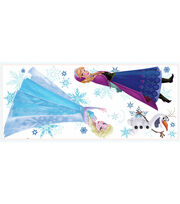 York Wallcoverings Peel & Stick Wall Decals-Frozen Anna, Elsa & Olaf, , hi-res