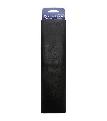 "Realeather Crafts Leather Premium Trim Piece 8.5""x11""-Black"