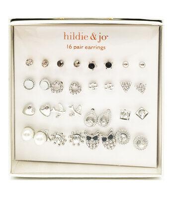 hildie & jo 16-pair Silver Earrings
