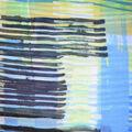 Fast Fashion Yoryu Chiffon Fabric-Blue Graphic Plaid