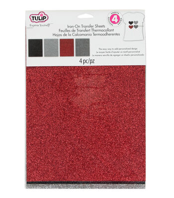 Tulip Fashion Glitter Iron-On Shimmer Transfer Sheets Twilight