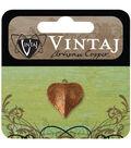 Vintaj Metal Accent 1/Pkg-Classic Nouveau Leaf 17x16mm