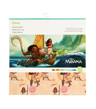 Cricut 6 pk 12''x12'' Disney Moana Born to Voyage Deluxe Papers