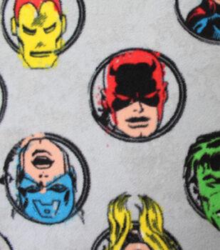 Marvel Comics Fleece Fabric -Badges