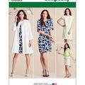 Simplicity Misses\u0027 Dress And Coat Or Jacket-8-10-12-14-16