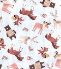 Premium Prints Cotton Fabric 43\u0022-Tossed Animal Friends