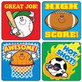 Carson Dellosa Sports Stickers 12 Packs