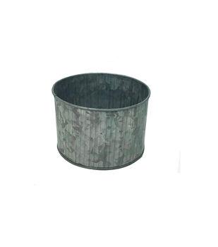 Ribbed Galvanized Cylinder Bucket 4''