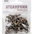 Steampunk 7 pk Octopus Buttons-Antique Gold